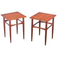 Pair of Danish Modern Teak End Tables for Arne Hovmand Olsen