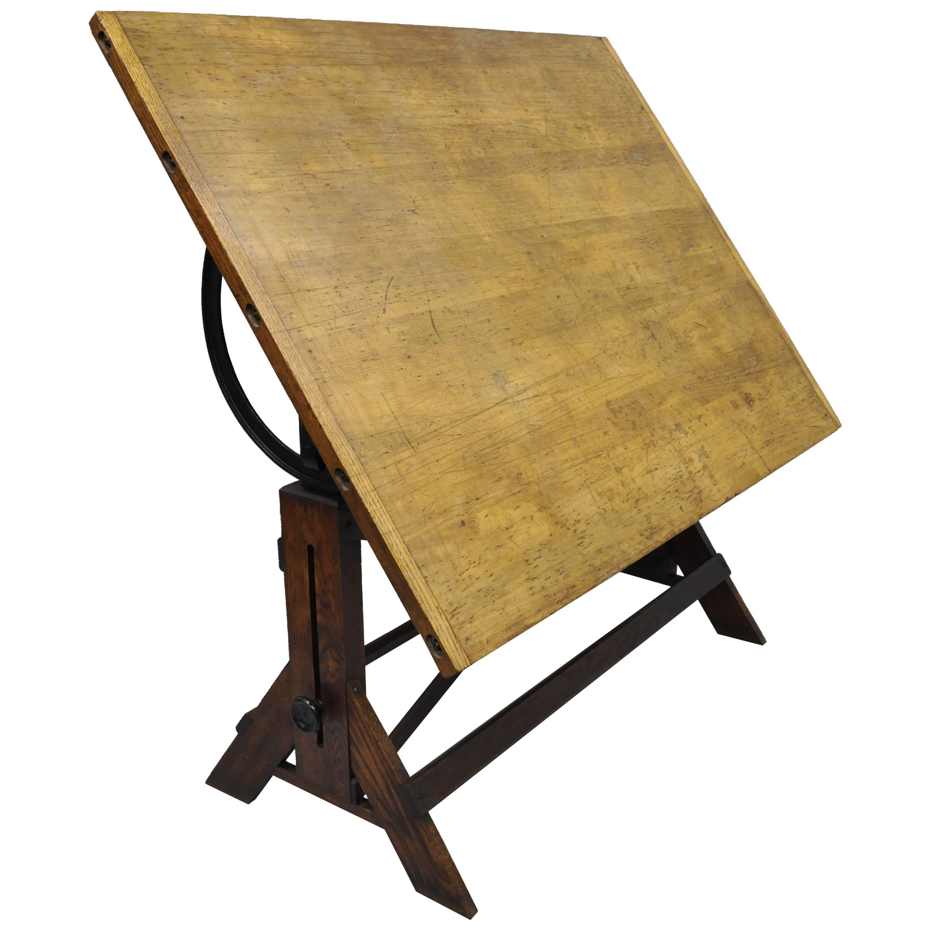 table antique inch shipping classic drafting crafts oak rustic free today studio product vintage sewing x wood overstock afad designs
