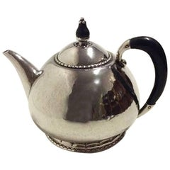 Georg Jensen Silver Tea Pot with Wood Handle from 1915-1925 No. 34