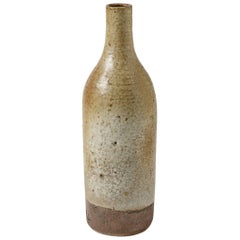 Important Decorative Ceramic Bottle by Jeanne and Norbert Pierlot, circa 1950