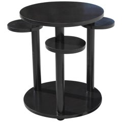 Beautiful French Art Deco Dark Mahogany Two-Tier Side Table or Accent Table