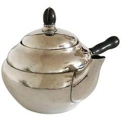 Georg Jensen Sterling Silver Tea Pot #1A with Ebony