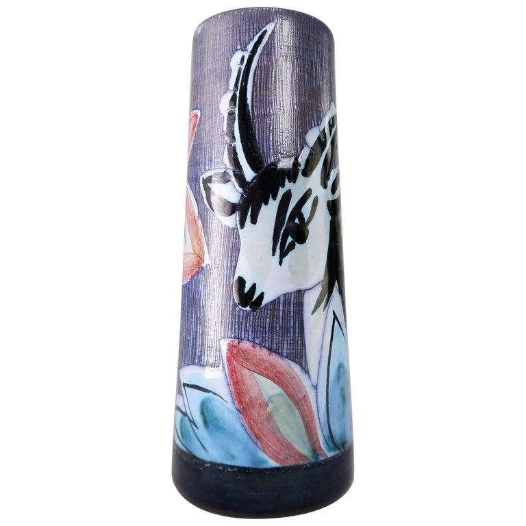 Swedish Modern 1960s Handmade Gazelle Vase by Nila