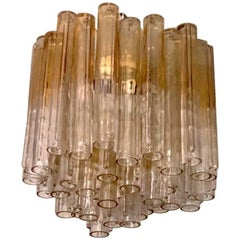 "Beautiful ""Calze"" Chandelier by Venini, Murano, Italy"