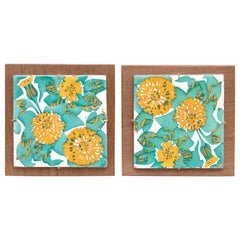 Antoni Gaudi Pair of Decorative Ceramic Tiles of Casa Vicens, circa 1888