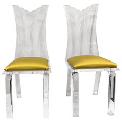Pair of Fabulous Vintage Lucite Chairs