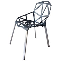 "Konstantin Grcic Contemporary Italian Dark Grey ""One"" Chair in Aluminum"