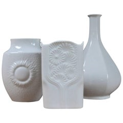 Collection of Three Alboth Kaiser Porcelain Vases, 1970s, Germany