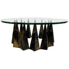 Rare Sculpted Pyramid Coffee Table by Paul Evans for Directional