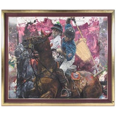 "Stephen Holland ""Polo Brothers"" Oil on Canvas Painting"