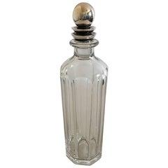 Georg Jensen Sterling Silver Harald Nielsen Lid #206 Baccarat Bottle