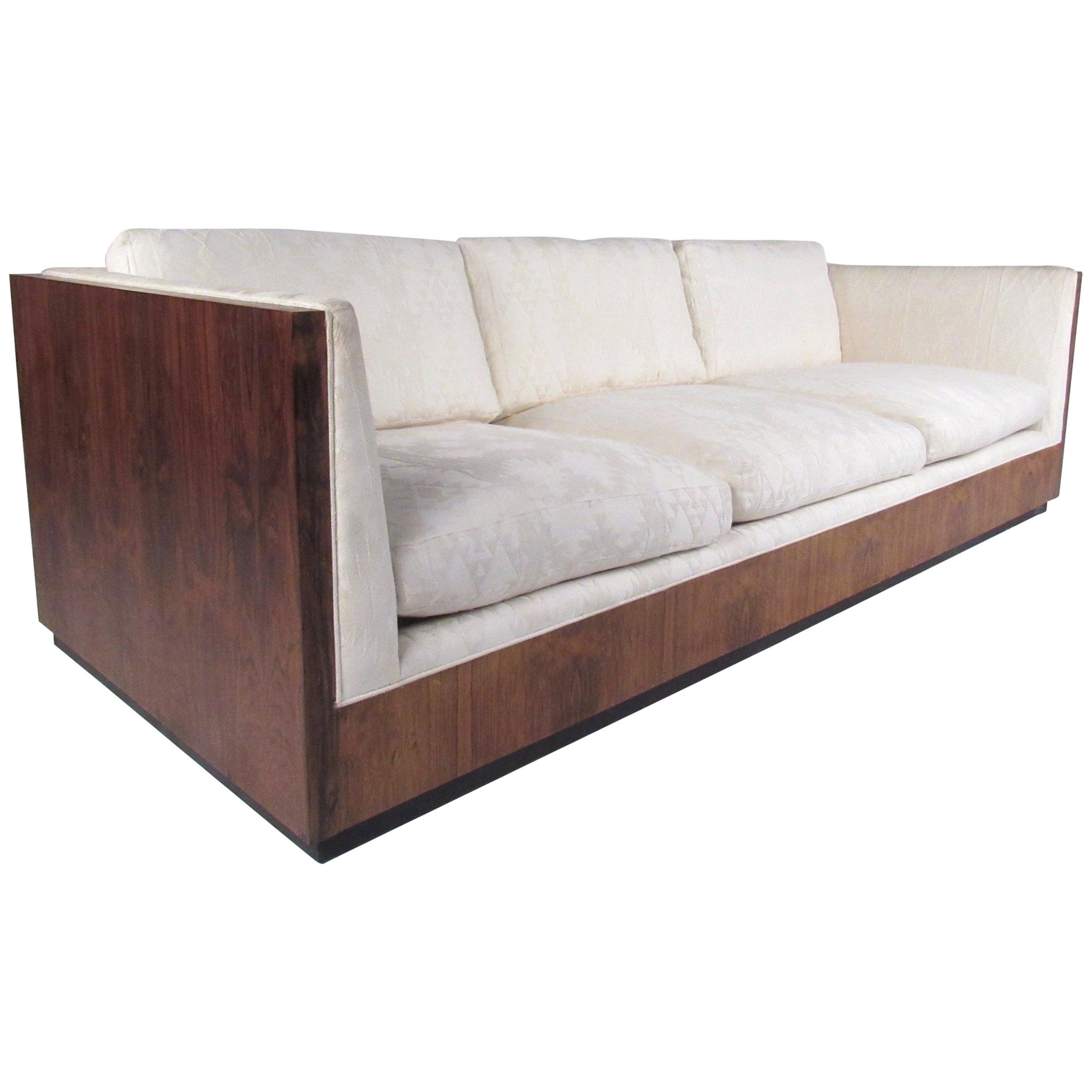 Vintage Milo Baughman Rosewood Frame Sofa for Thayer Coggin