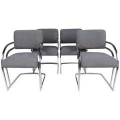Set of Four Contemporary Shells Inc. Upholstered Dining Chairs
