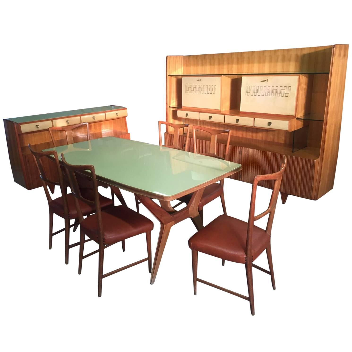 Italian Dining Room Sets By U0027La Permanente Mobili Cantuu0027 Attributed To Gio  Ponti For