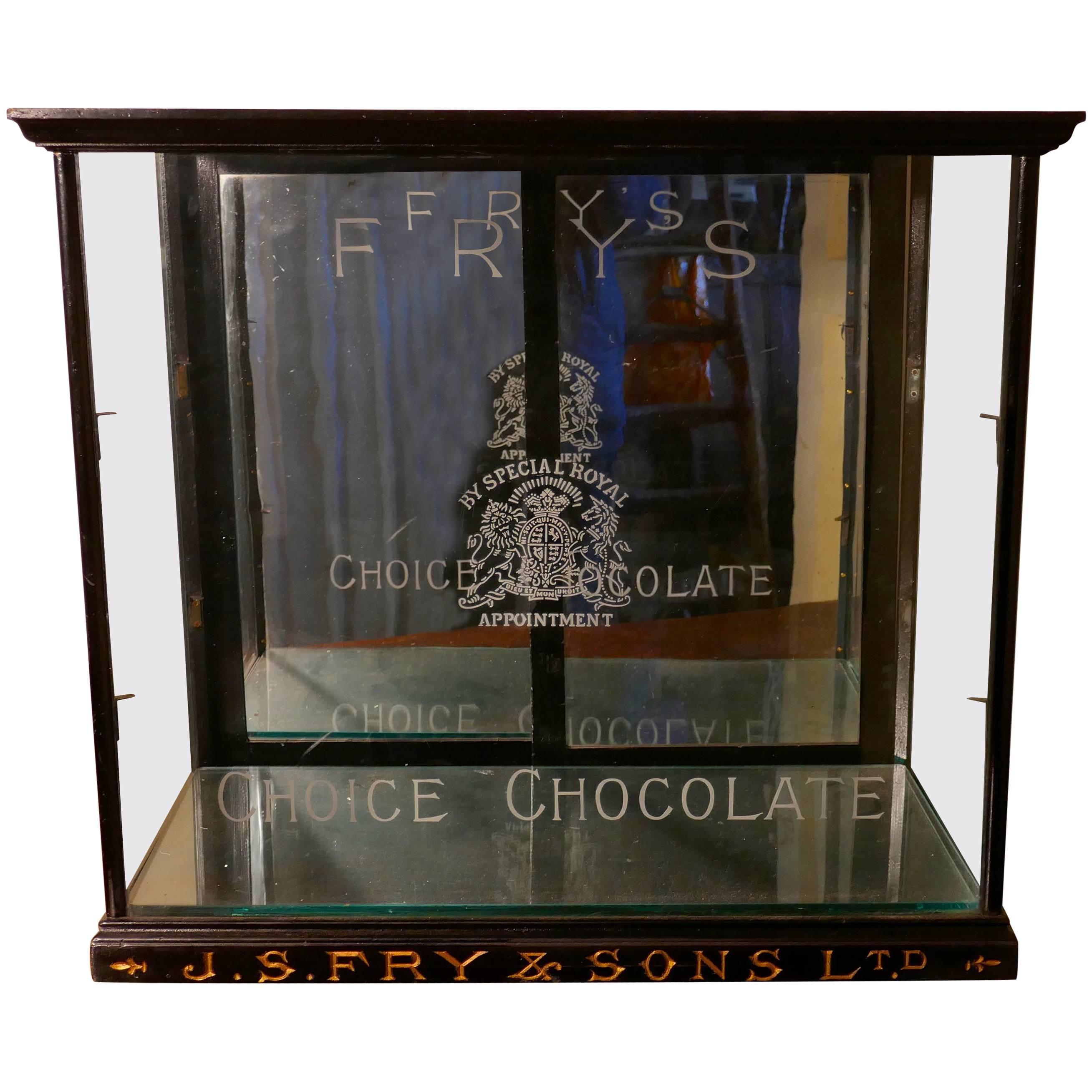 Fryu0027s Glazed Sweet Shop Display Cabinet For Sale