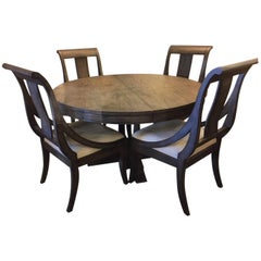 Grey Dining or Kitchen Table with Four Chairs by Hekman