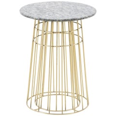 Granite and Brass Side Table or Tray Table