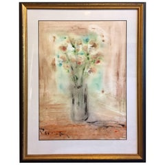 Zafiro Primavera Spring Sapphire Still Life Watercolor Painting Andrew Plum