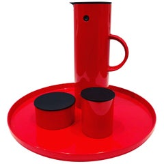 Coffee, Sugar and Creamer with Tray Set by Erik Magnussen for Stelton