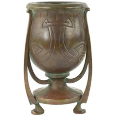 Aesthetic sculptural Bronze vase