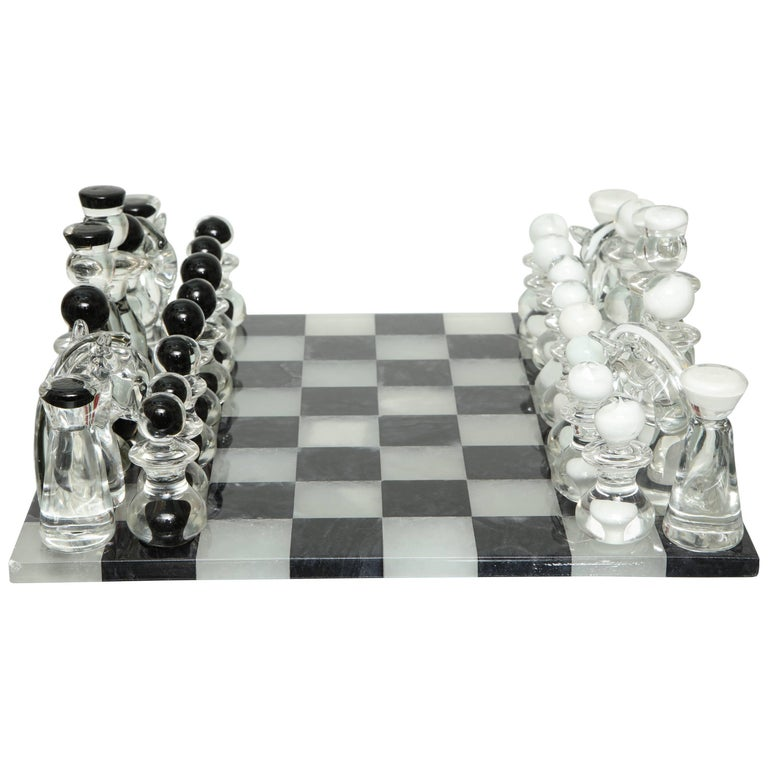 Murano Glass Chess Set For Sale