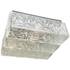 Large Square Kalmar Glass Flush Mount