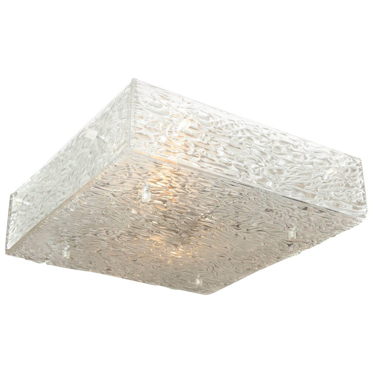 Square Kalmar Glass Flush Mount