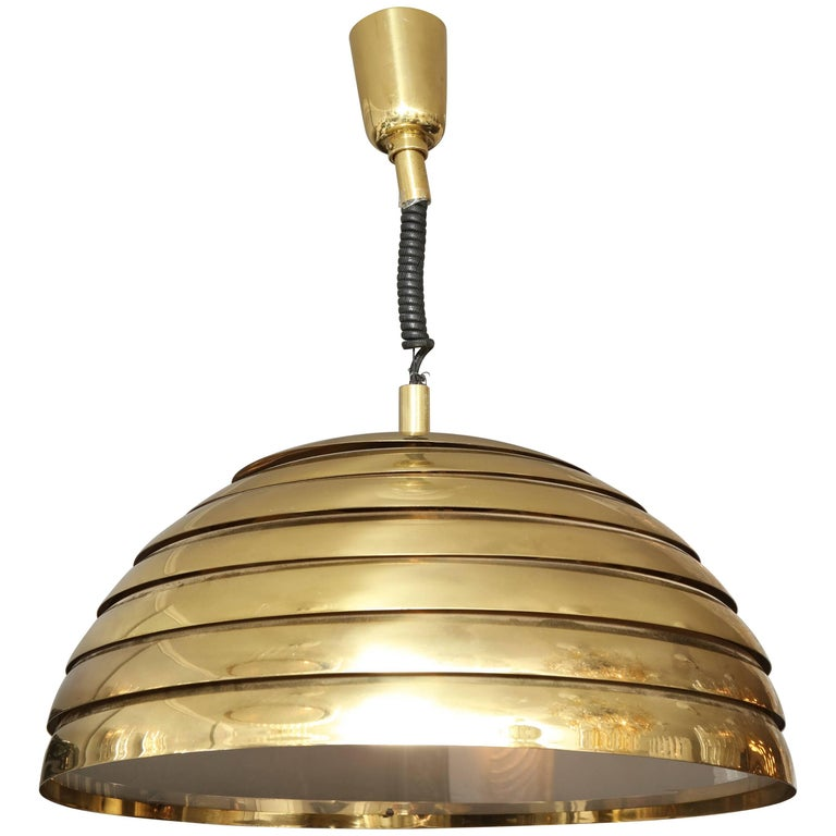 Large Brass Dome Pendant Light by Florian Schulz