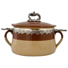 Antique Terracotta Provencal Soup Tureen