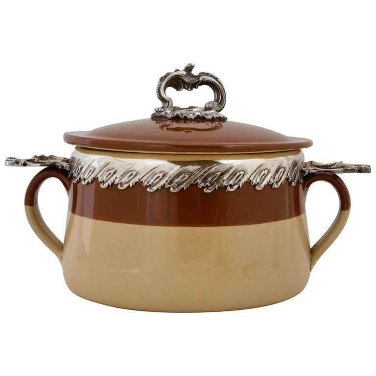 Antique Terracotta Provencal Soup Tureen