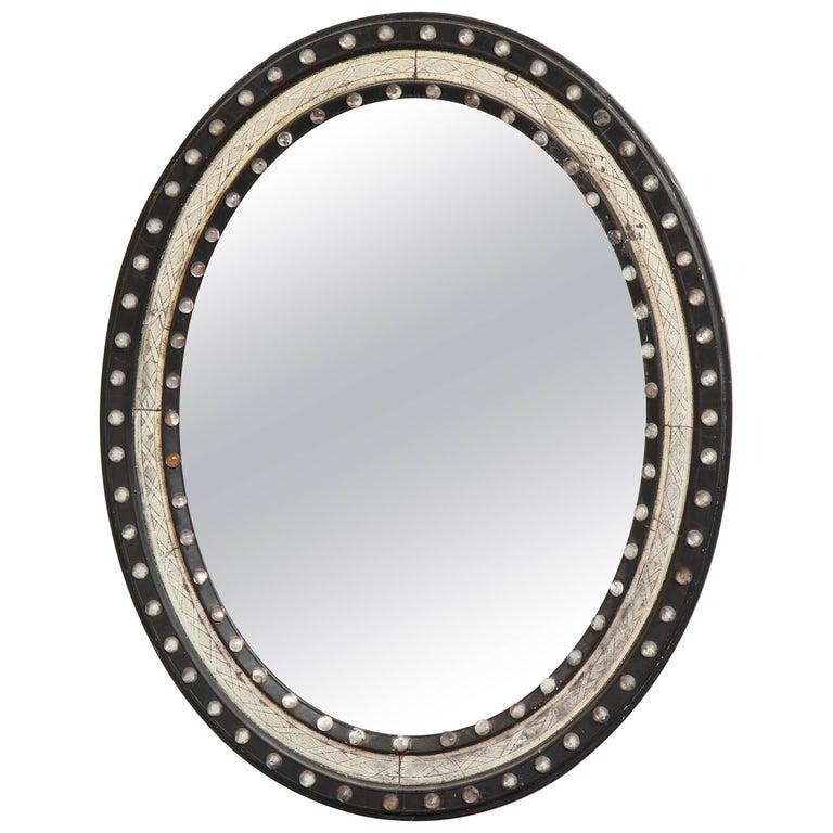 Irish, George III, Silver Gilt and Glass Studded Mirror