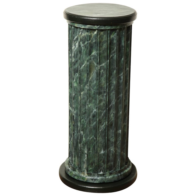 20th Century Faux Marble Statuary Column For Sale