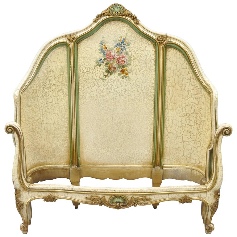 Pair Of Vintage French Louis XV Style Twin Upholstered