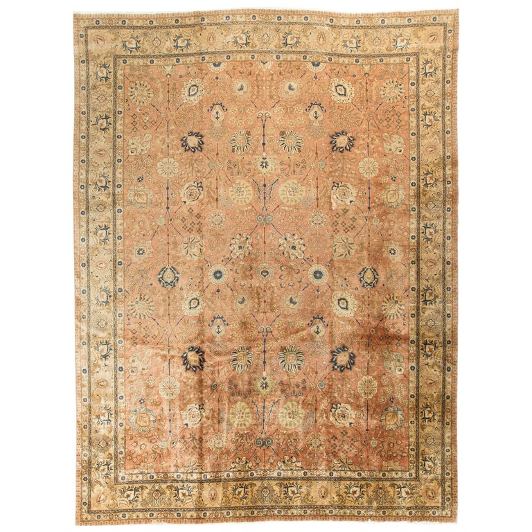 Antique Persian Tabriz Rug For Sale At 1stdibs