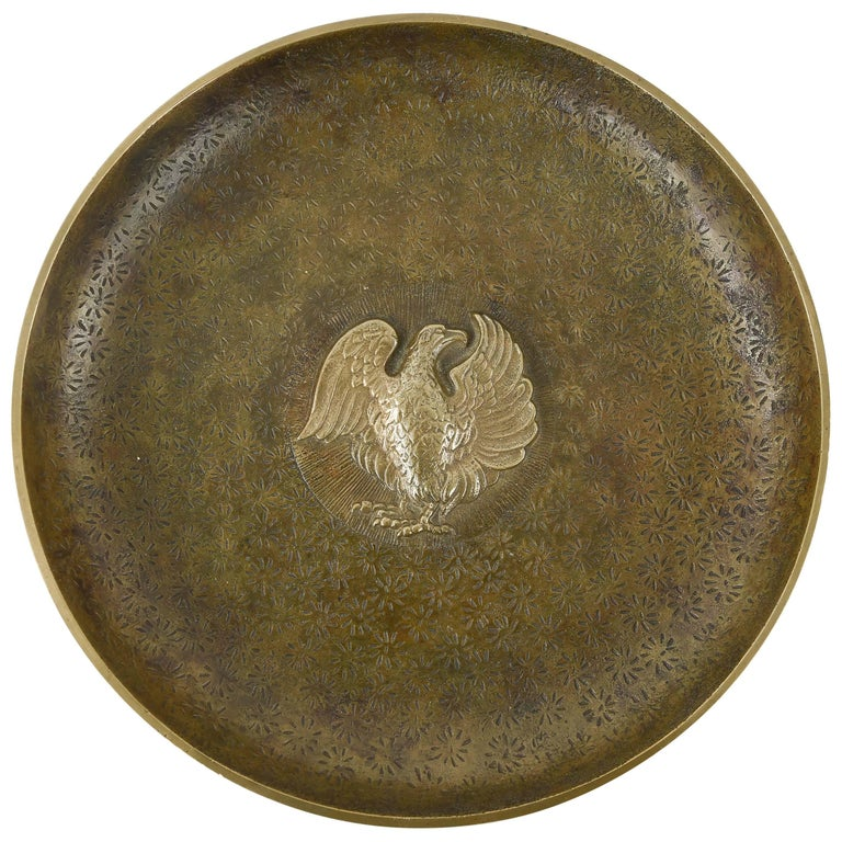 Tinos Bronze, Art Deco Dish or Charger with Eagle