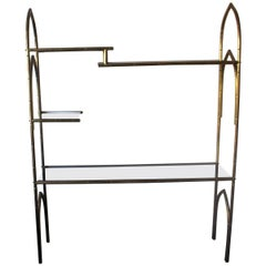 Italian Brass Etagere or Showcase Vitrine