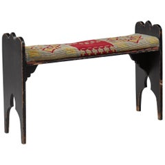 Folk Art Bench from Sweden, Late 19th Century
