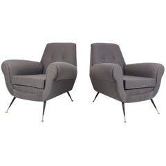 Pair of Italian Lounge Chairs by Gigi Radice