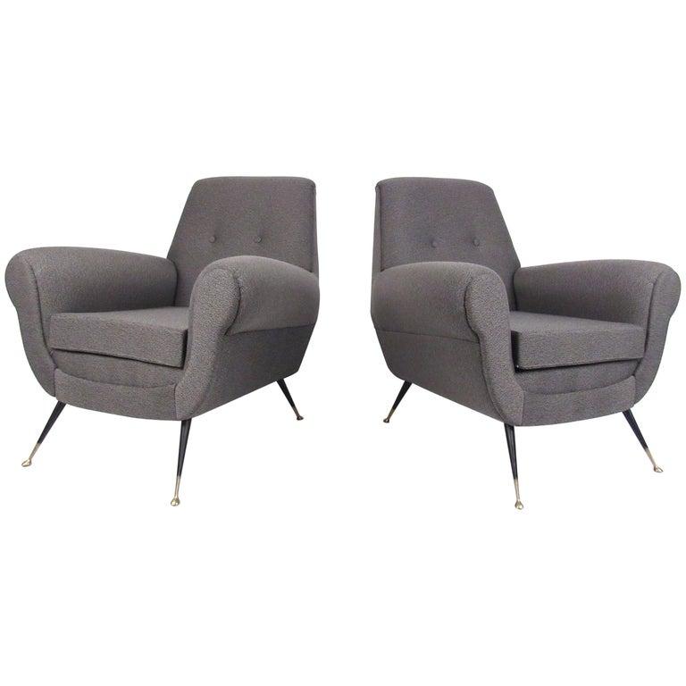 Pair of Italian Lounge Chairs by Gigi Radice