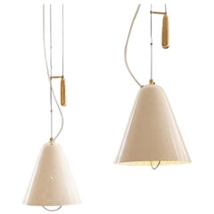 Pair of Pendants by Paavo Tynell for Taito Oy