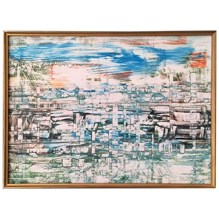 El Puerto de La Habana 'Havana Port Cuba' Acrylic on Board Painting Andrew Plum