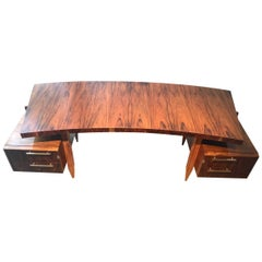 Cimo Curved Top Midcentury Desk Table