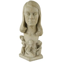 Lilly Rona Stone Bust Sculpture