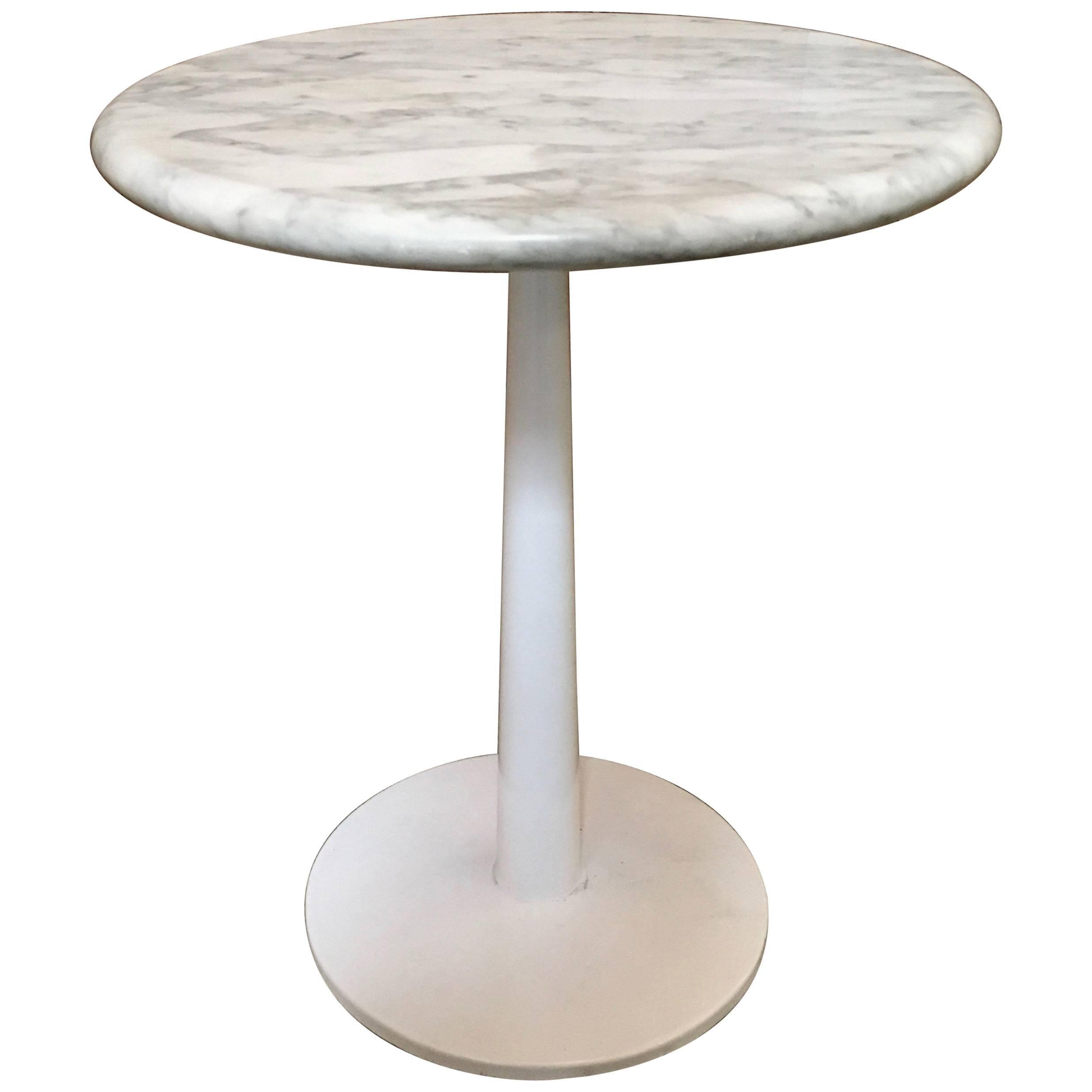 Laverne Marble-Top Stem Table