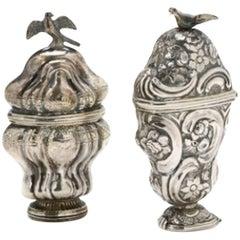Two 18th Century Rococo Silver Vinaigrettes