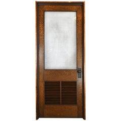 Oak Schoolhouse Door with Vent
