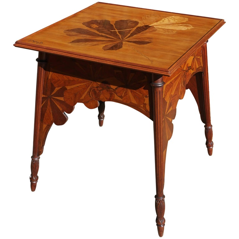 Louis Majorelle Signed French Art Nouveau Game Table, circa 1900 For Sale