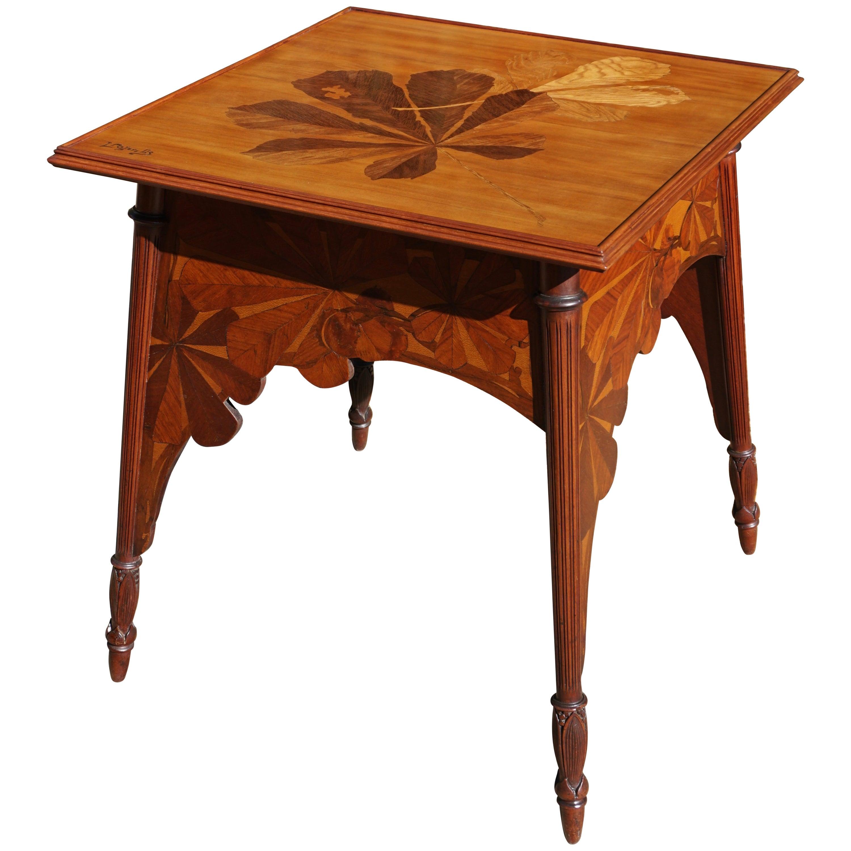 Louis Majorelle Signed French Art Nouveau Game Table, circa 1900
