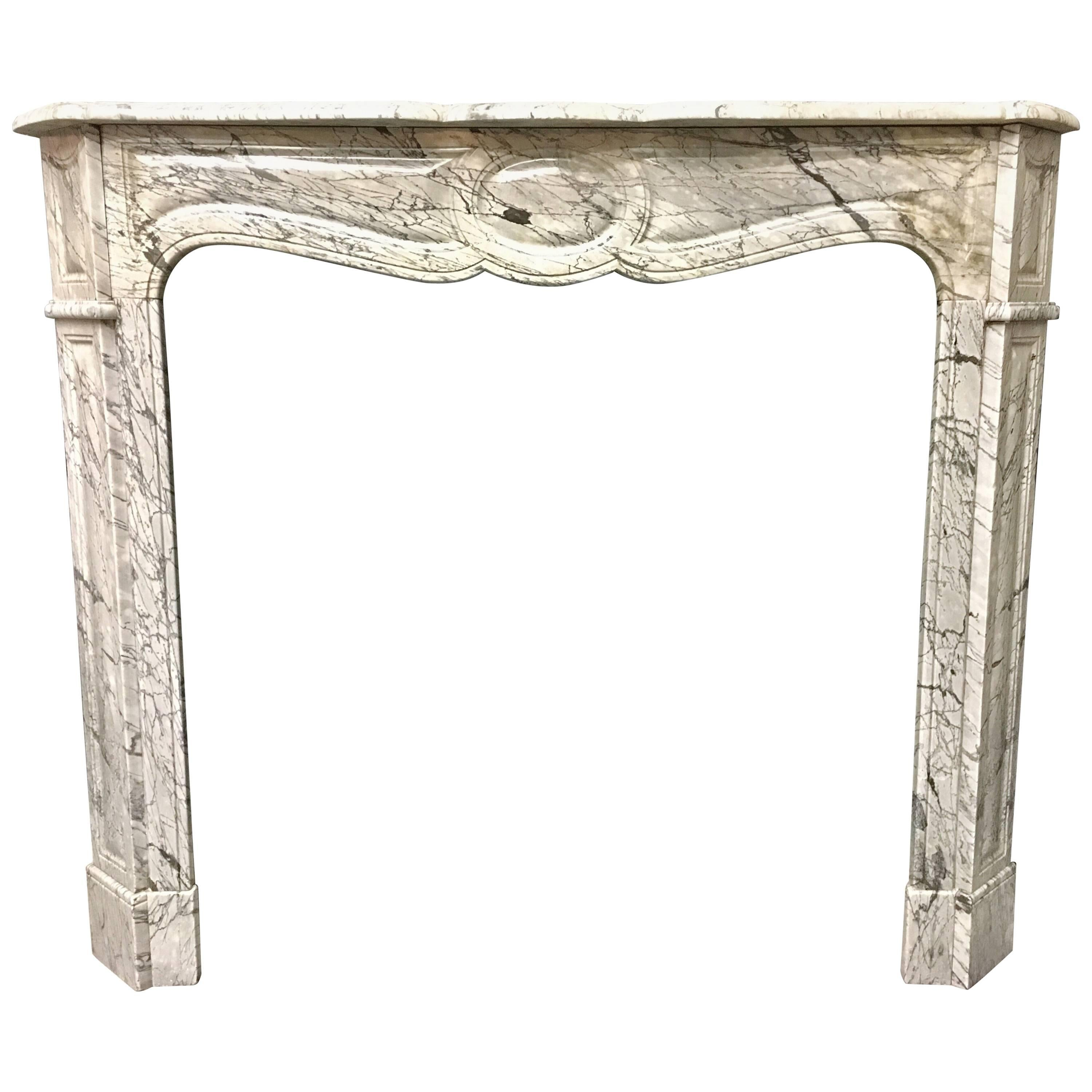 Antique French Victorian Louis Xvi Marble Fireplace Surround For Sale