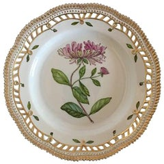 Royal Copenhagen Flora Danica Dinner Plate No. 3553 with Pierced Border